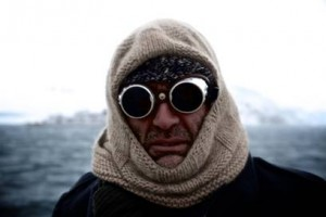 Shackleton Epic expedition leader Tim Jarvis wearing traditional clothing from Shackleton's era. Image credit: Alex Kumar.