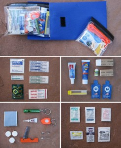 Individual components of the StayOutThere kit.