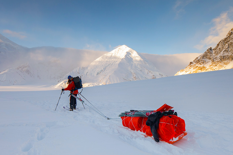 Lonnie Dupre on Mount Denali. Photo from One World Endeavors.