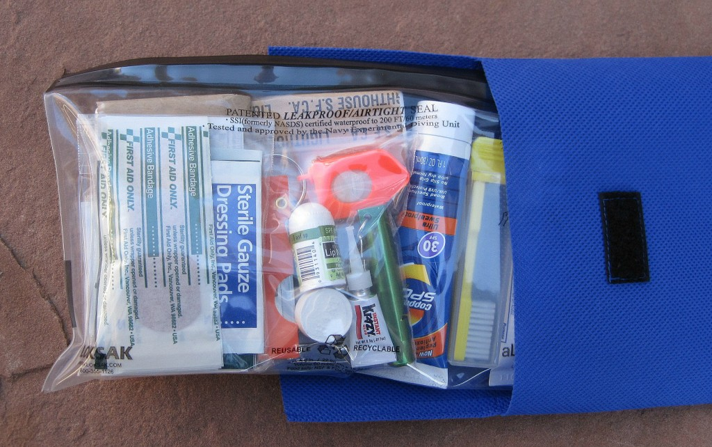 Smart supplies: Designed for multiday trips, the StayOutThere kit consolidates useful safety and personal care items.