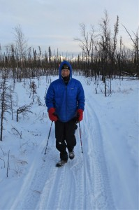 Tim Hewitt on the Iditarod Trail in 2012. Photo by Pavel Rictr.