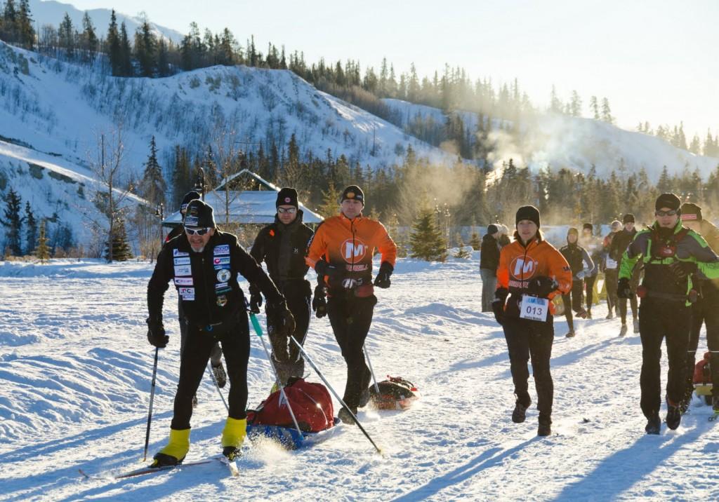 Competitors in the 2011 Yukon Arctic Ultra.