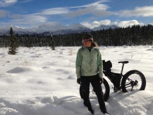 Eszter Horanyi shortly after she arrived in Alaska. Photo from Eszter Horanyi.