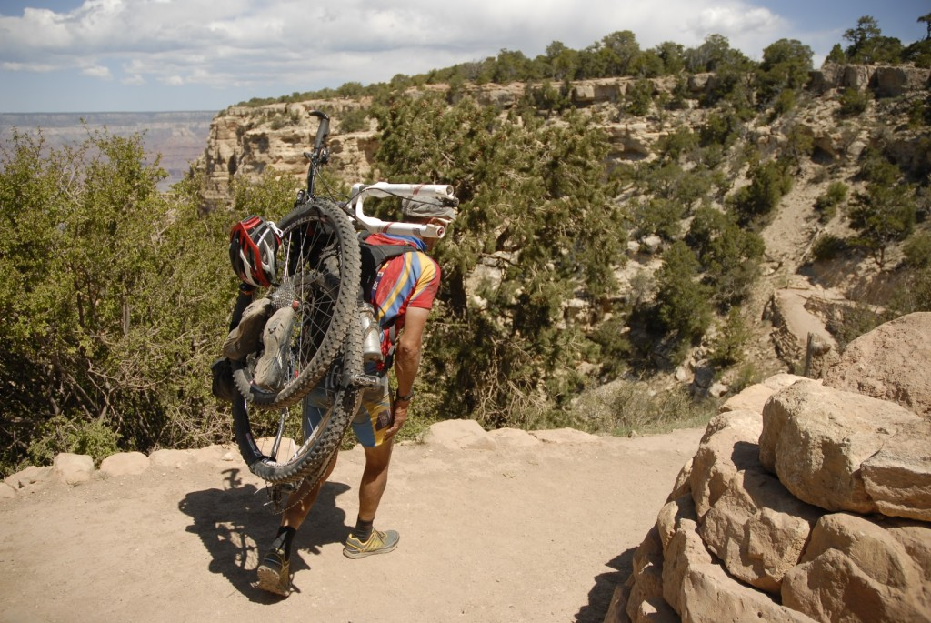 Max Morris heads down the South Kaibab Trail on the South Rim of the Grand Canyon during the Arizona Trail Race 750.