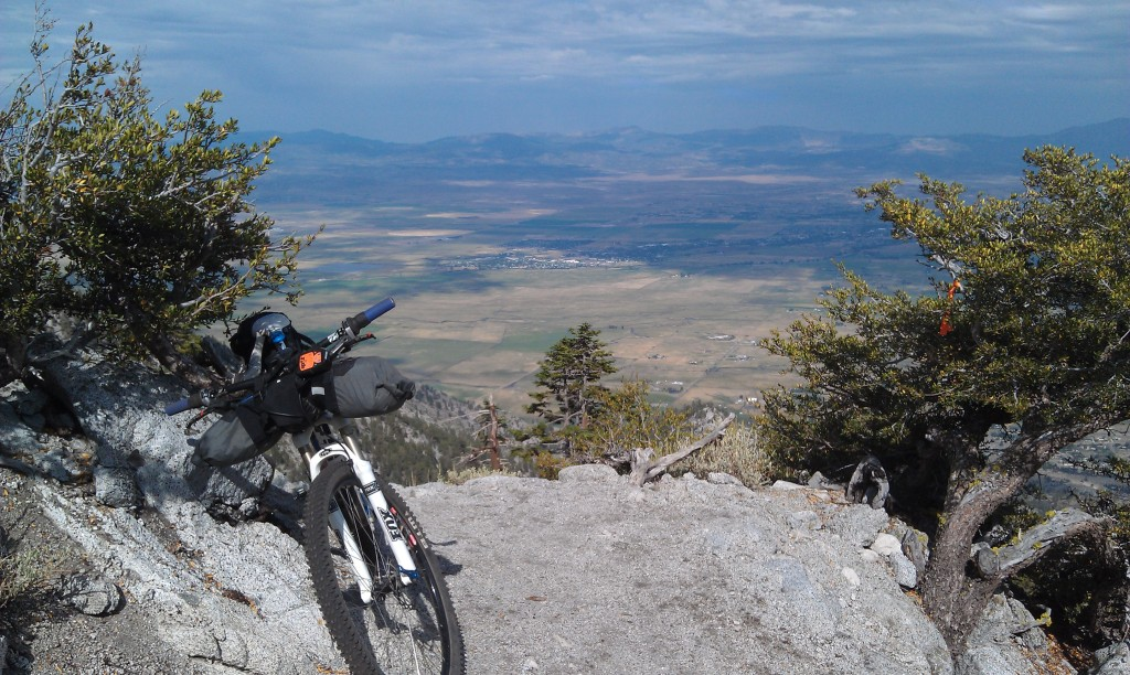 Overlooking Washoe Valley and Carson City, Nevada, on the route for the California Sierra Trail Race. Photo by Sean Allan.