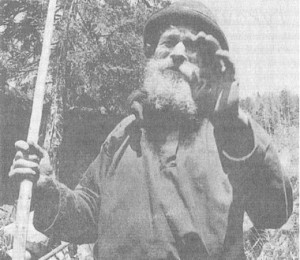 "Karp Lykov, in a photo taken shortly after his ""capture"" in Siberia."