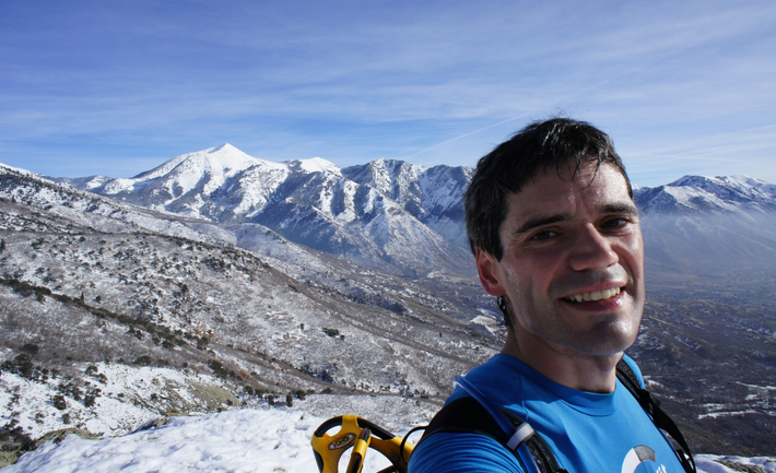 Winter training in the Wasatch Mountains, Utah.