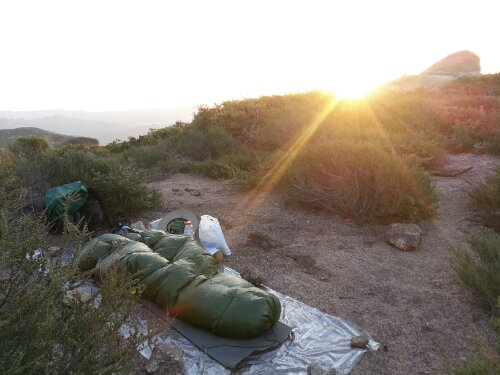 Camping in the Laguna Mountains on the Pacific Crest Trail. Photo by Carrot Quinn.