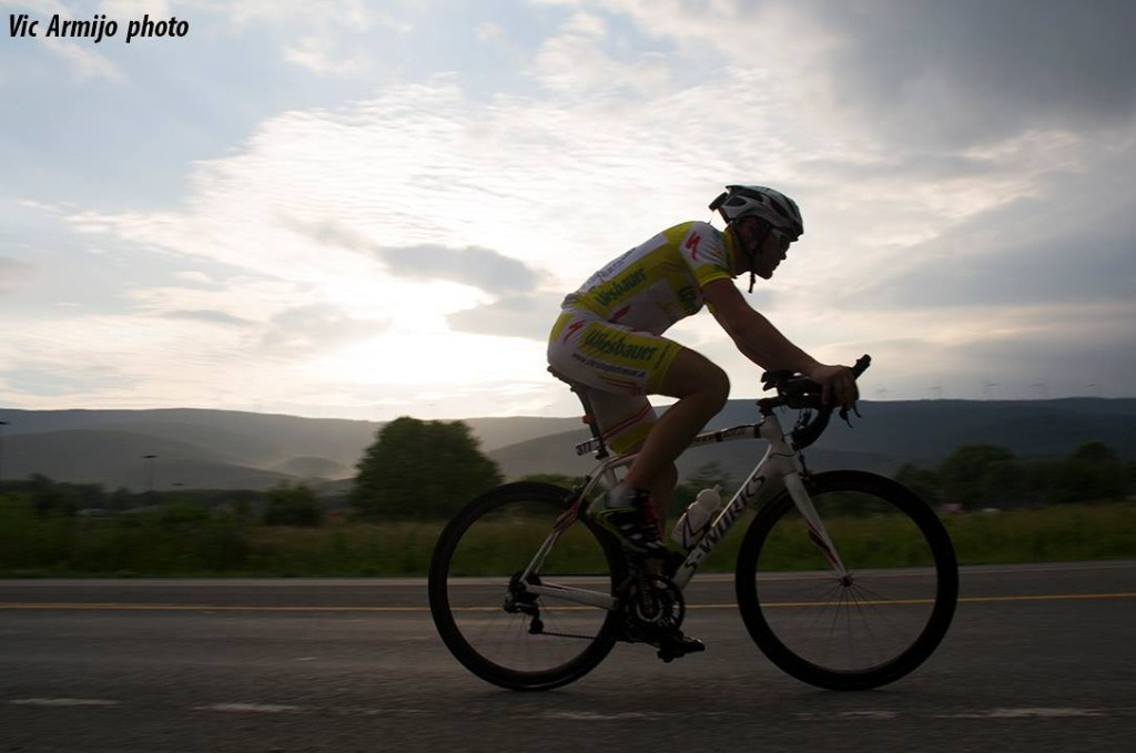 Christoph Strasser set a new record for bicycling across the United States.