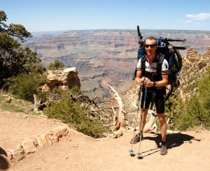 Eric Foster prepares to cross the Grand Canyon during the Arizona Trail Race.
