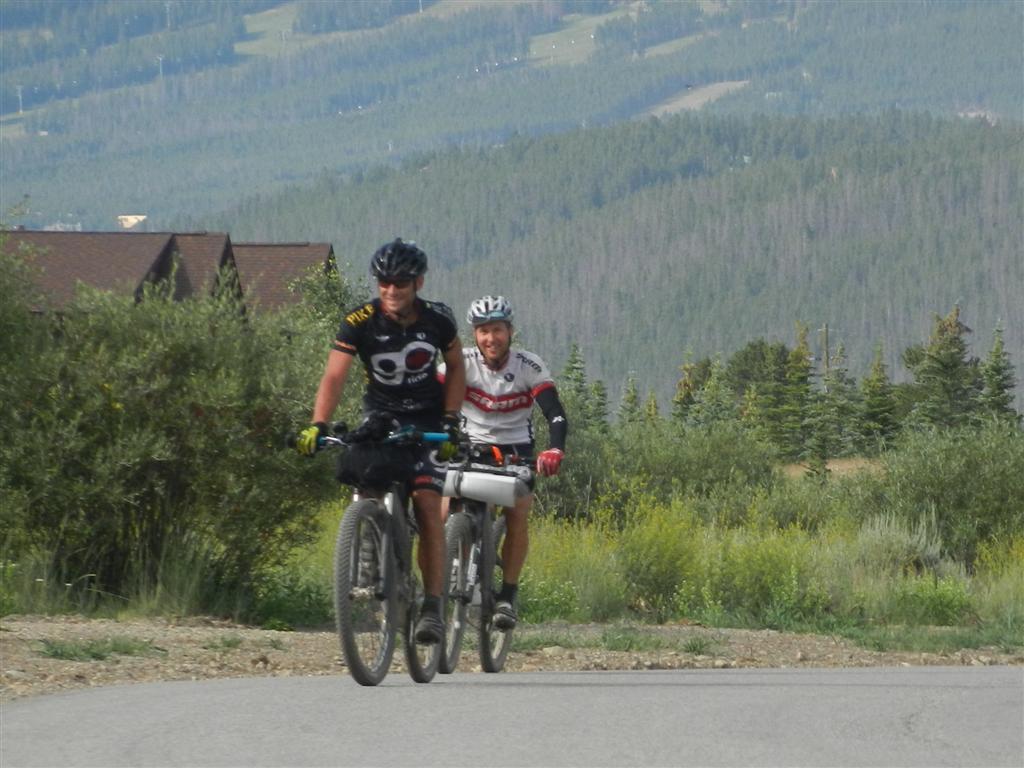 Jefe Branham and Jesse Jakomait race the Colorado Trail near Gold Hill. Photo by http://www.debcar.com.