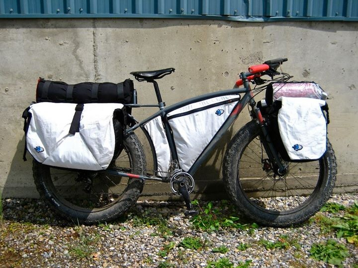 Scott Felter's fully loaded fat bike is shown prior to the trip. Photo by Scott Felter.