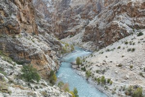 The gorge below Pho village, Upper Dolpo, which Phillppe passed through on day six.