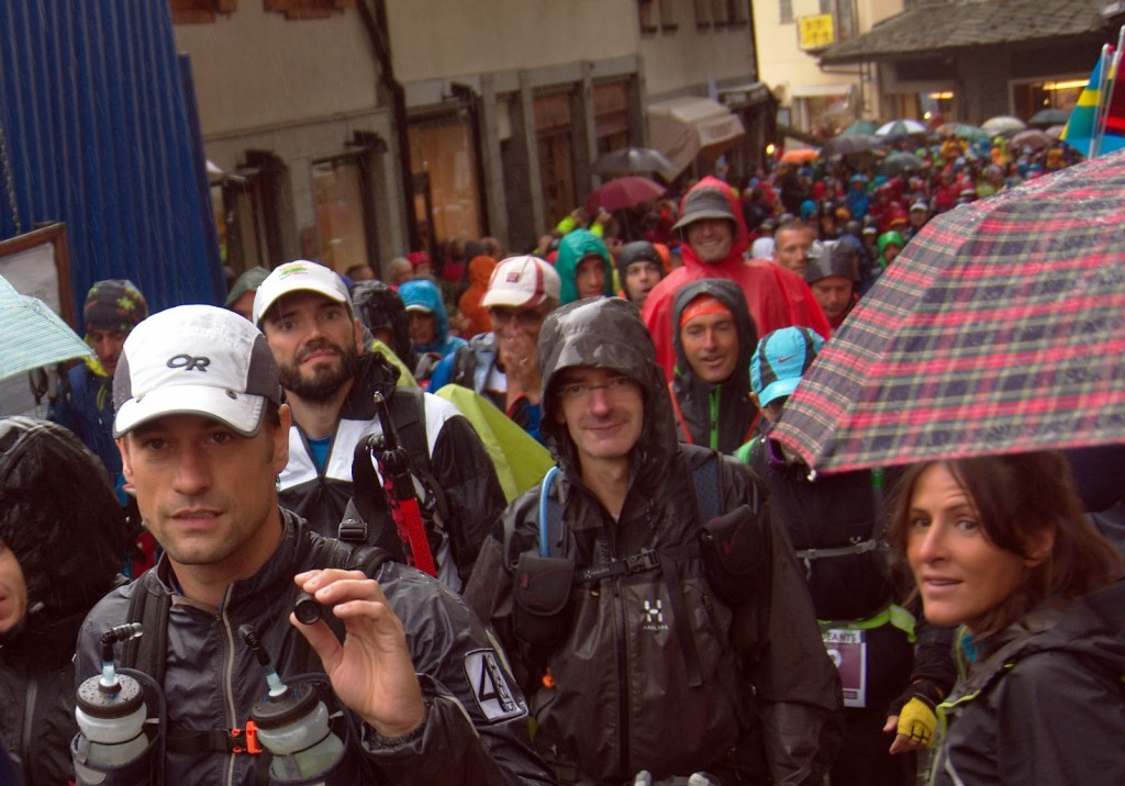 The Tor des Geants, a 330-kilometer race through the Italian Alps, starts on the streets of Courmayeur, Italy.